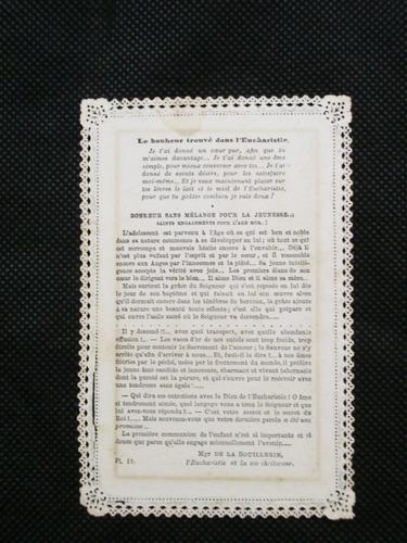 centenário  santinho díptico impresso rendado frança