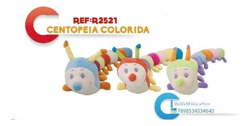centopeia de pelucia colorida antialergica bichinho do bebe