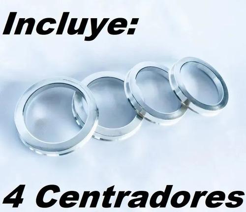 centradores de rin 66.1 / 73.2 de aluminio (4 piezas)