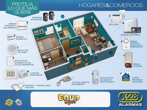 central alarma domiciliaria casa 8 zonas x28 n8 mpxh
