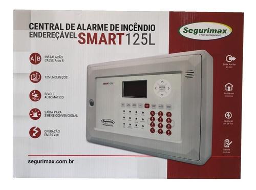 central alarme de incêndio endereçável 125 setor segurimax