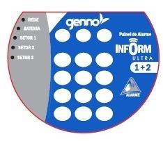 central alarme inform ultra 1+2 genno, discadora + controle