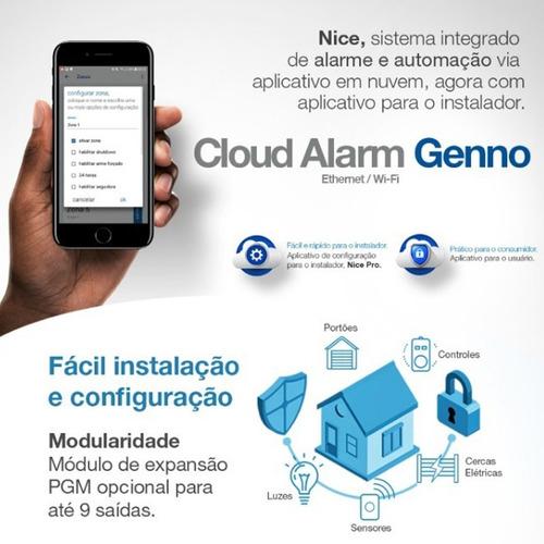 central de alarme genno cloud alarm 10 ethernet wi-fi
