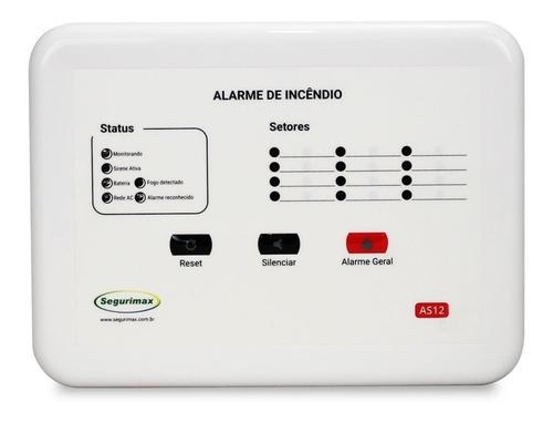 central de alarme incêndio 12v  12 setores convencional