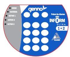 central de alarme inform ultra com discadora - genno