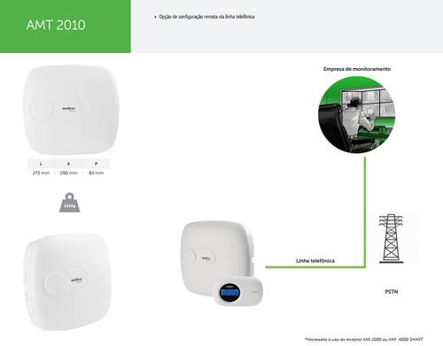 central de alarme intelbras amt 2010 monitorada com 10 zonas