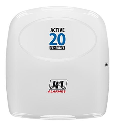 central de alarme jfl active 20 ethernet teclado lcd