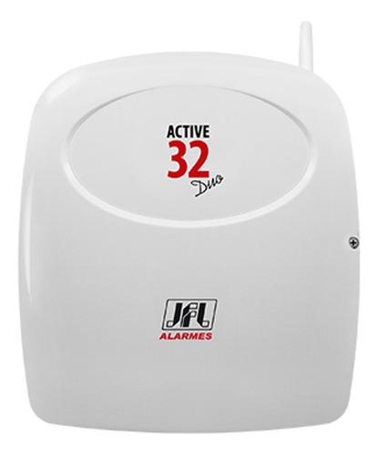 central de alarme jfl active 32 duo com teclado tec 300