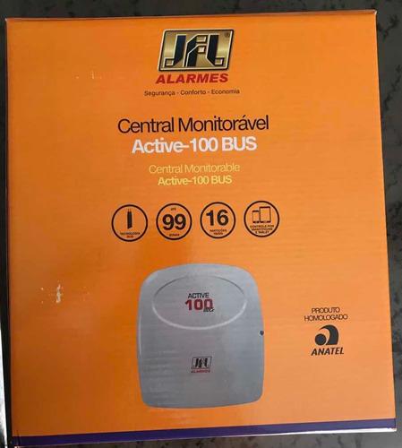 central de alarme monitorável 99 zonas active-100 bus jfl