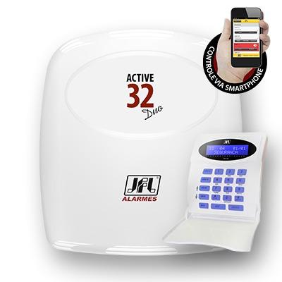 central de alarme monitorável active-32 duo jfl