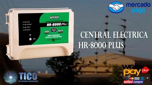 central de cerco electrico hr-8000 plus