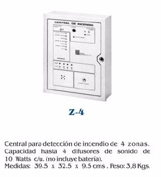 central de incendio z2, z4, z8, z16, z48 instalación y venta