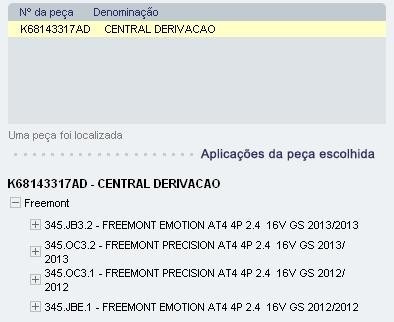 central derivacao cx rele freemont  k68082307ab k68143317ad