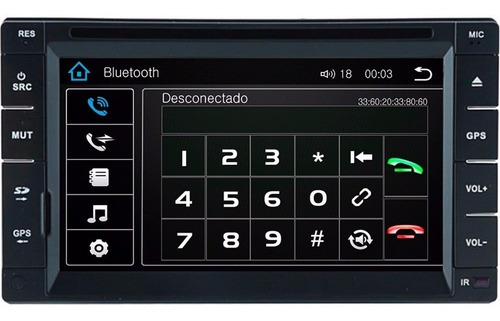 central dvd 2din tay s95 gps usb tv espelhamento bluetooth