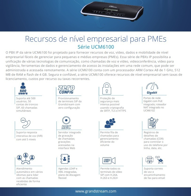 Central Ip Voip Ucm6204 Pabx Virtual Ip Grandstream