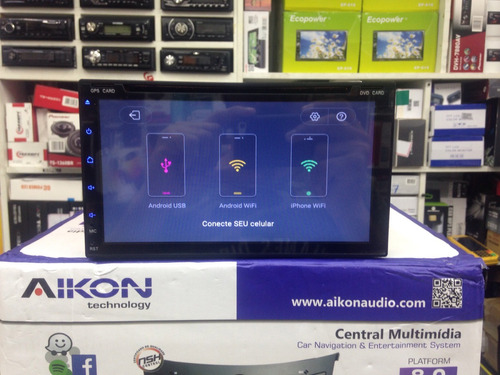 central multimidia aikon 8.0 androide 6.0 4k