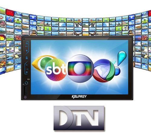 central multimídia com tv digital, espelhamento + câmera ré