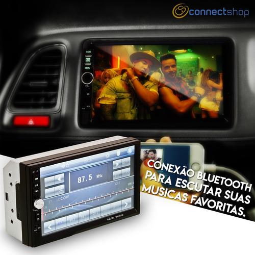 central multimídia controle  lcd 2 din 7 bluetooth câmera ré