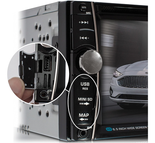 central multimidia dvd com logo espelhamento e camera de ré
