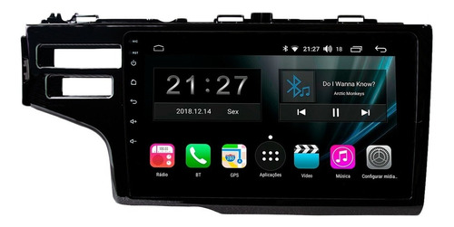 central multimidia honda fit 15 16 17 18 19 aikon android 8