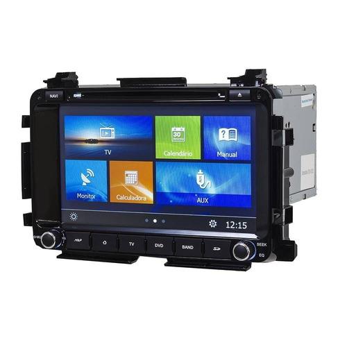 central multimidia honda hr-v gps dvd tv digital usb cam re