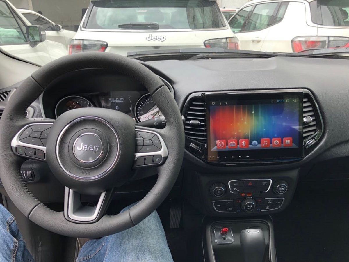 Central Multimídia Jeep Compass 2018 Android Full Tach Hd ...
