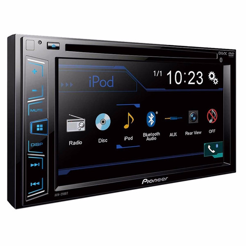 central multimidia pioneer avh-298bt 2din + camera de ré