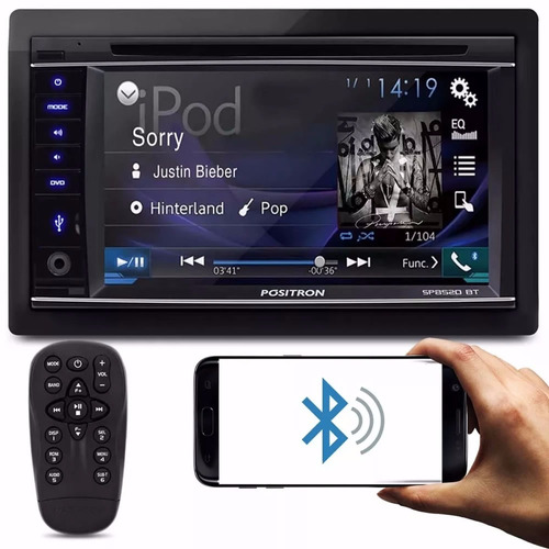 central multimídia pósitron sp8520 bt 2 din bluetooth