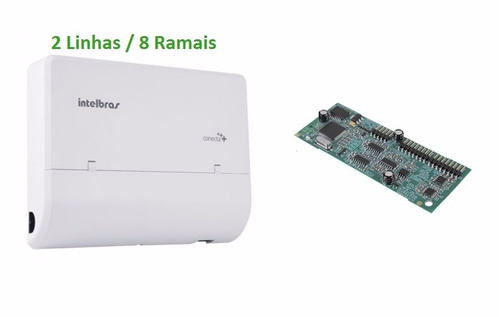 central pabx conecta mais 2l/8r + placa disa intelbras