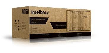 central pabx híbrida - impacta 140 - intelbras - parede