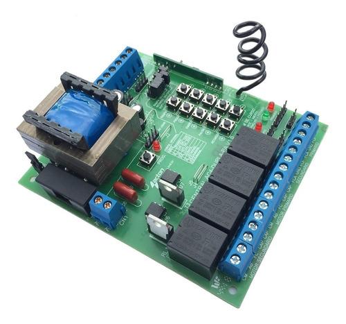 central / placa de comando portão automático pivotante duplo