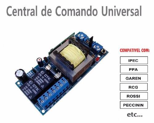 central placa motor comando portão automático, universal