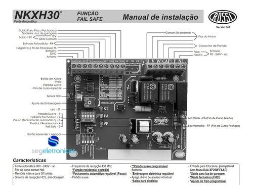 central placa motor portão kxh30fs nano dz3 dz4 com 2 imãs