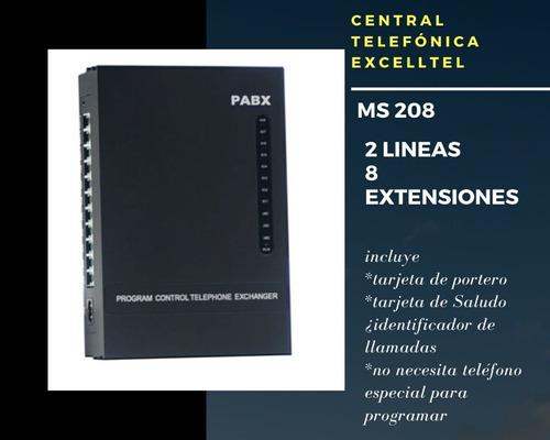 central telefónica 2 lineas 8 extensiones