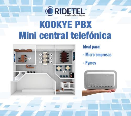 central telefónica analógica 2 líneas 8 extensiones