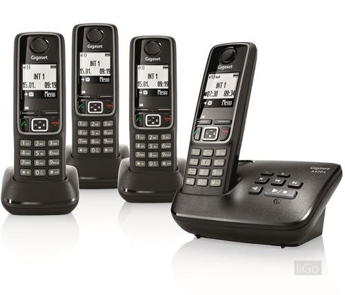 central telefónica gigaset 4 teléfonos, con contestador.