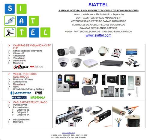 central telefónica ip panasonic garaje cámara cctv biometric