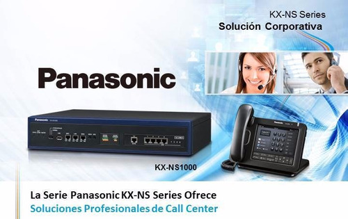 central telefonica ip panasonic hibrida kx-ns500 gtia 2 años