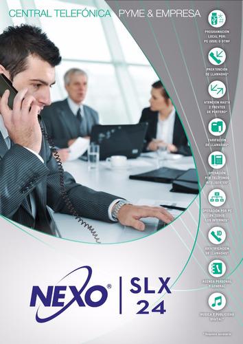 central telefónica nexo slx 24 (equipada 2x12 ampl a 8x24)