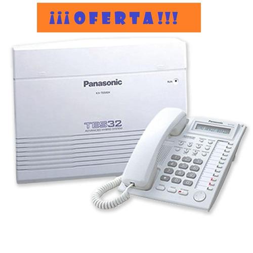 central telefónica panasonic 3 líneas 8 anexos