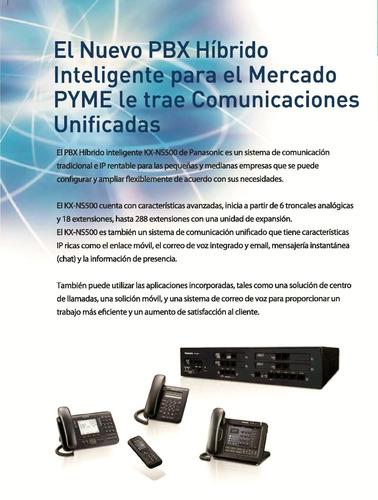 central telefonica panasonic kx-ns500 pbx hibrida ip- analóg