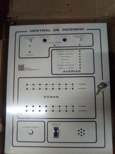 centrales de deteccion de incendios cm16 con 2 modulos