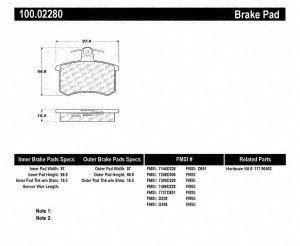 centric regiones 100.02280 100 serie brake almohadilla