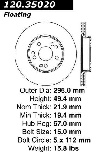 centric regiones 120.35020 rotor freno prima con e - revesti