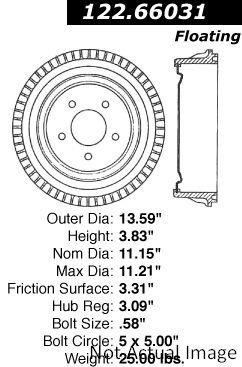 céntrico 122_66031 tambor de freno
