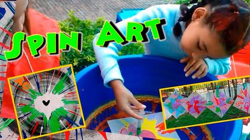 centrifuga de pintura, spin art para fiestas y eventos