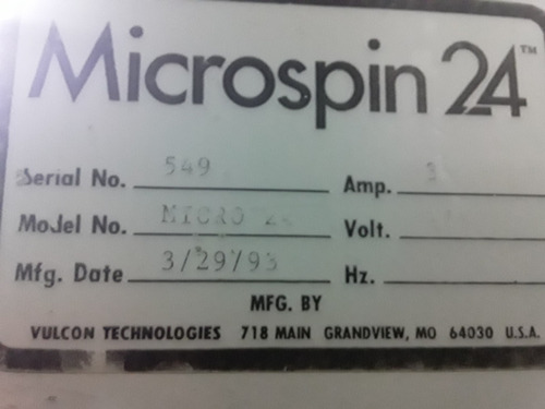 centrifuga vulcano tecnologia  microspin micro 24