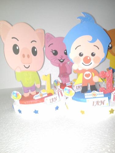 centro d mesa de  plim plim y sus amigos d 20cm mínimo 4