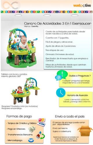 centro de actividades 3 en 1 evenflo exersaucer envío gratis