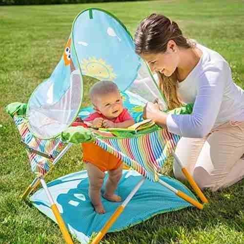 centro de actividades portátil  bebe summer infant pop
